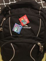 Pins on Backpack
